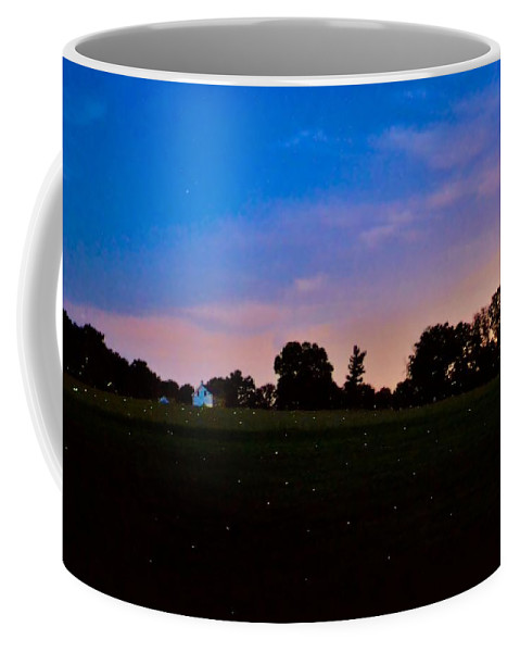 Bird Coffee Mug featuring the photograph Firefly Fields by Art Dingo