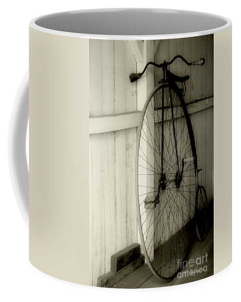 Velocipede Coffee Mug featuring the photograph Firehouse Velocipede by RC deWinter