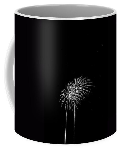Addison Kaboom Coffee Mug featuring the photograph Firework Palm Trees by Darryl Dalton