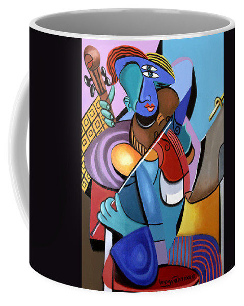 First Chair Framed Prints Coffee Mug featuring the painting First Chair by Anthony Falbo