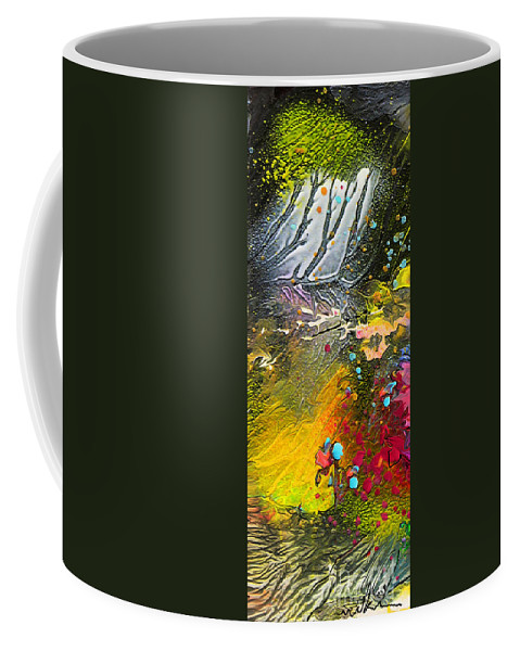 Miki Coffee Mug featuring the painting First Light by Miki De Goodaboom