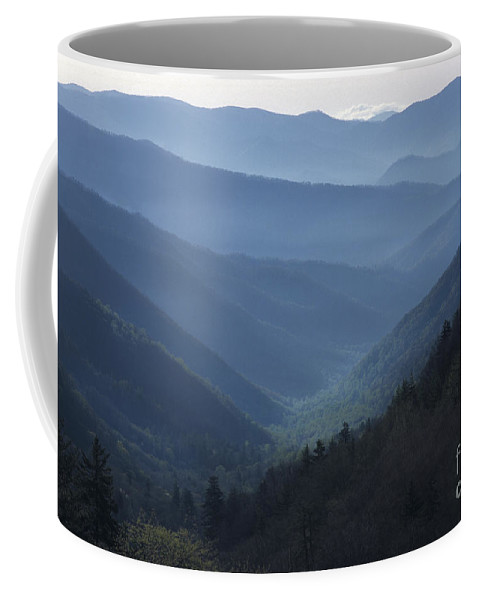 Landscape Coffee Mug featuring the photograph First Light On Clingman's Dome by Sandra Bronstein