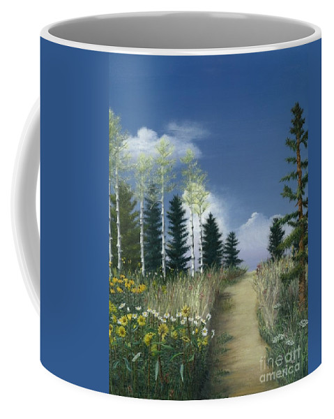 Nature Coffee Mug featuring the painting First Love by Nancy Dunham