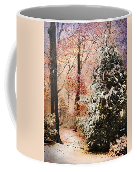 Path Coffee Mug featuring the photograph First Snow by Jai Johnson