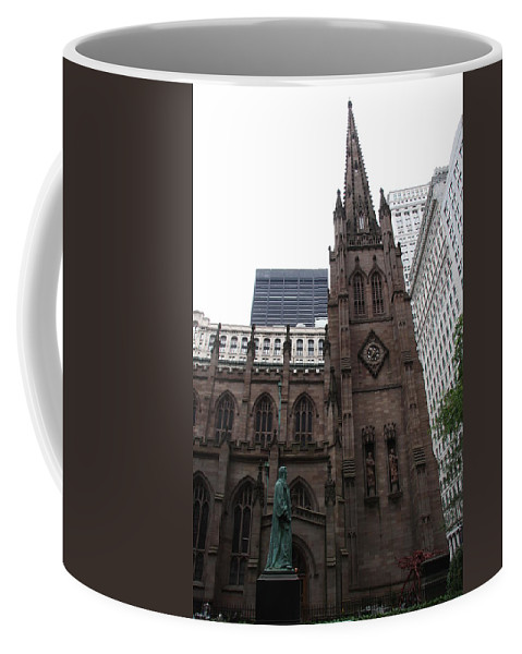 Cathedral Coffee Mug featuring the photograph First Trinity Church Nyc by Christiane Schulze Art And Photography