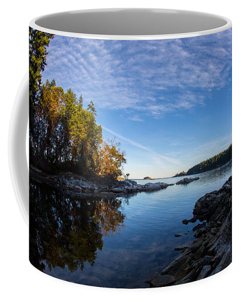 Brickyard Cove Coffee Mug featuring the photograph Fish Eye View by Randy Hall