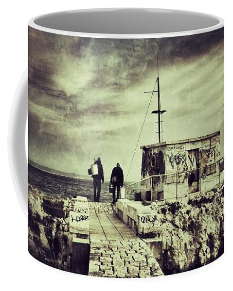Fishermen Coffee Mug featuring the photograph Fishermen by Marco Oliveira