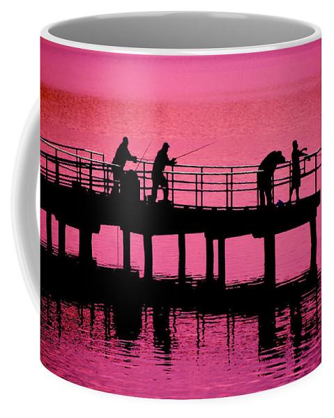 Fishermen Coffee Mug featuring the photograph Fishermen by Raymond Salani III