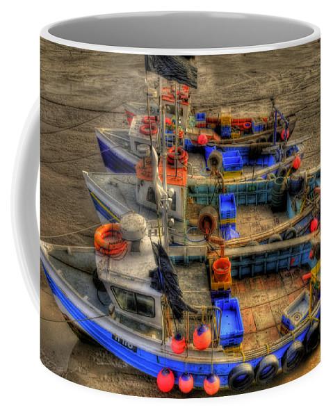 Sand Coffee Mug featuring the photograph Fishing Boats by Svetlana Sewell
