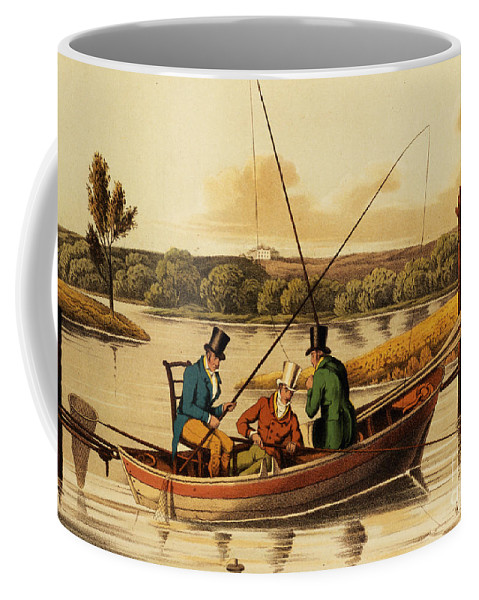 Alken Coffee Mug featuring the painting Fishing In A Punt by Henry Thomas Alken