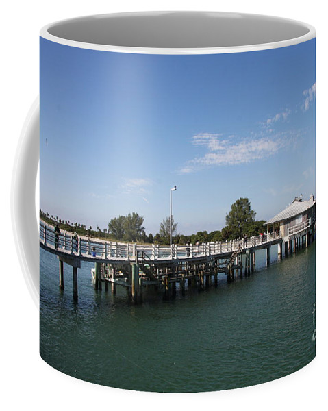 Pier Coffee Mug featuring the photograph Fishing Pier Fort De Soto by Christiane Schulze Art And Photography