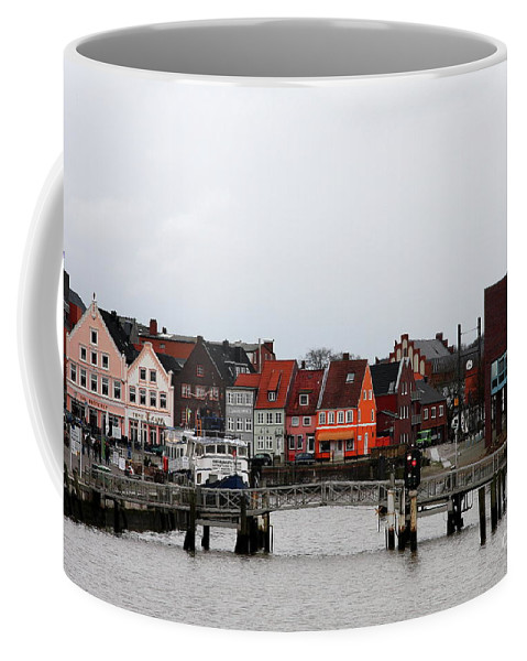 Husum Coffee Mug featuring the photograph Fishing Port Husum by Christiane Schulze Art And Photography