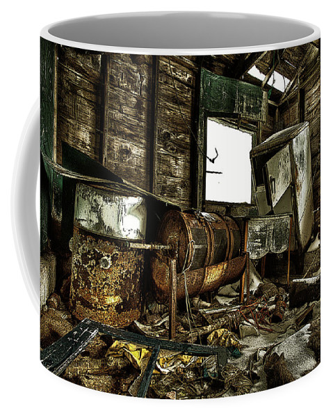 Architecture Coffee Mug featuring the photograph Fishing Shack Posterized by Jakub Sisak