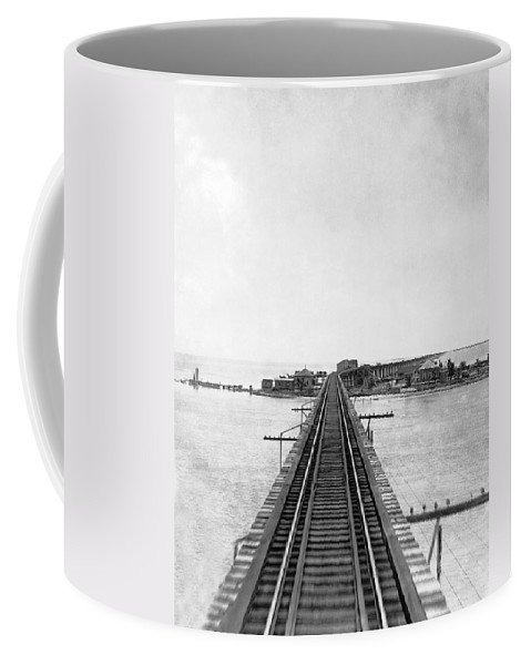 1922 Coffee Mug featuring the photograph Fishing Village In Key West by Underwood & Underwood