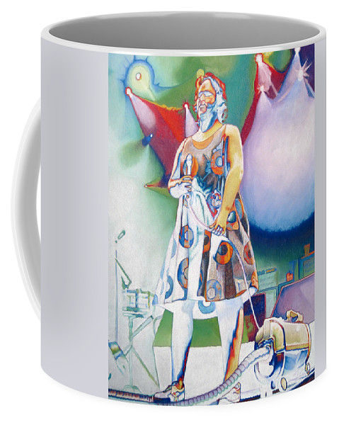 Phish Coffee Mug featuring the drawing Fishman And Vaccum by Joshua Morton