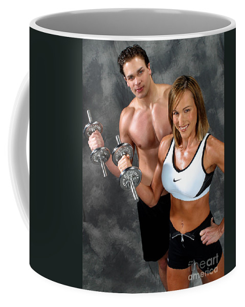 Model Coffee Mug featuring the photograph Fitness Couple 17-2 by Gary Gingrich Galleries