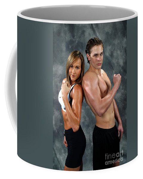 Model Coffee Mug featuring the photograph Fitness Couple 39 by Gary Gingrich Galleries