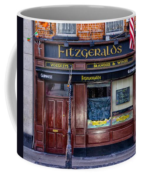Fitzgeralds Coffee Mug featuring the photograph Fitzgeralds Pub - Dublin Ireland by Bill Cannon