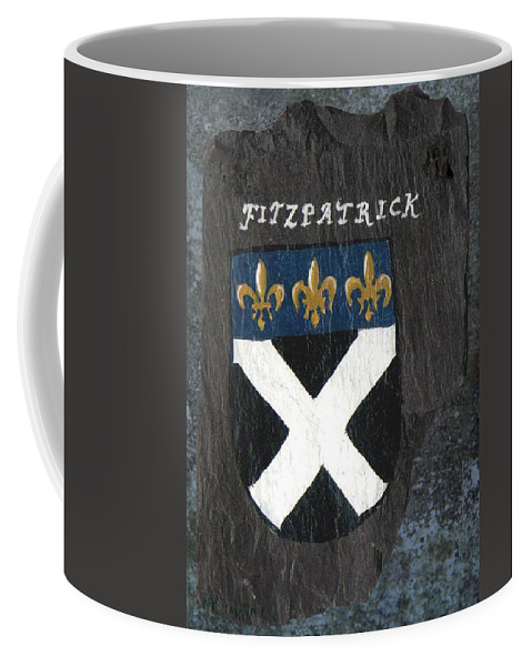 Coat Of Arms Coffee Mug featuring the painting Fitzpatrick by Barbara McDevitt