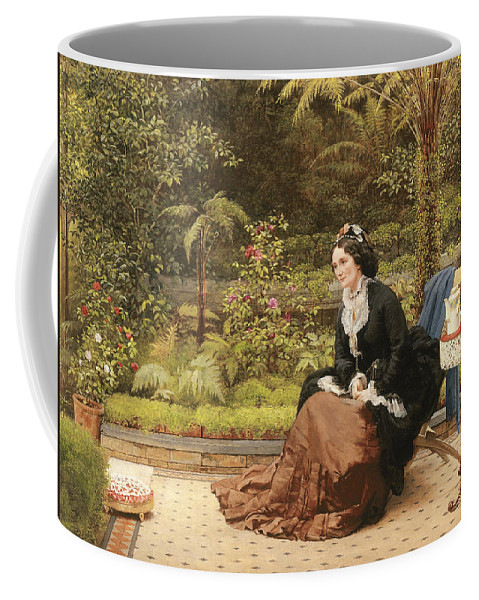 Five O'clock Coffee Mug featuring the painting Five Oclock by George Dunlop Leslie