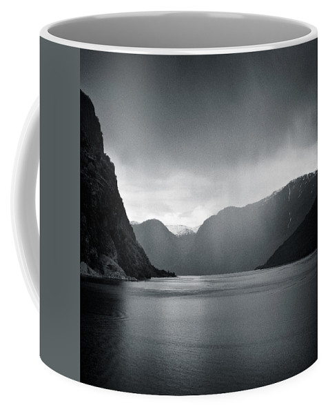 Norway Coffee Mug featuring the photograph Fjord Rain by Dave Bowman
