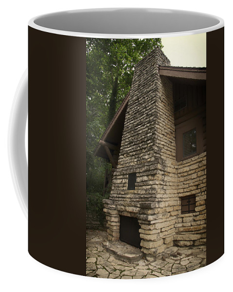 Fireplace Coffee Mug featuring the photograph Flagstone Fireplace by Thomas Woolworth