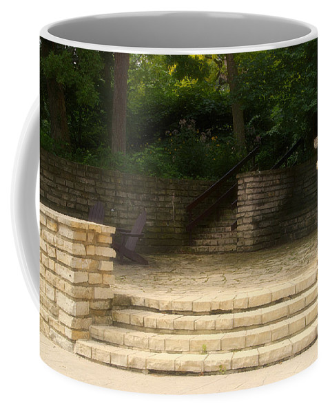 Flagstone Coffee Mug featuring the photograph Flagstone Patio by Thomas Woolworth