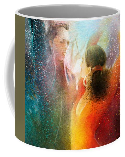 Flamenco Painting Coffee Mug featuring the painting Flamencoscape 09 by Miki De Goodaboom