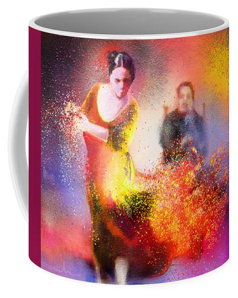 Flamenco Painting Coffee Mug featuring the painting Flamencoscape 11 by Miki De Goodaboom