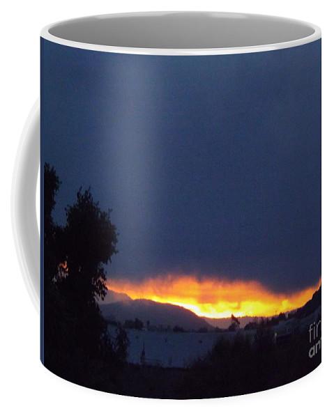 Sunrise Coffee Mug featuring the photograph Flaming Sunrise I by Jussta Jussta