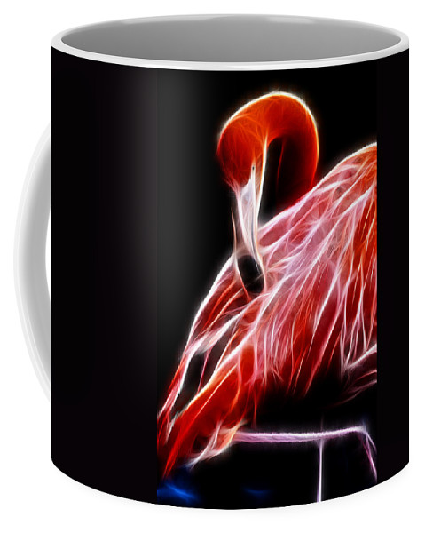 Fractal Coffee Mug featuring the photograph Flamingo Portrait Fractal by Pati Photography