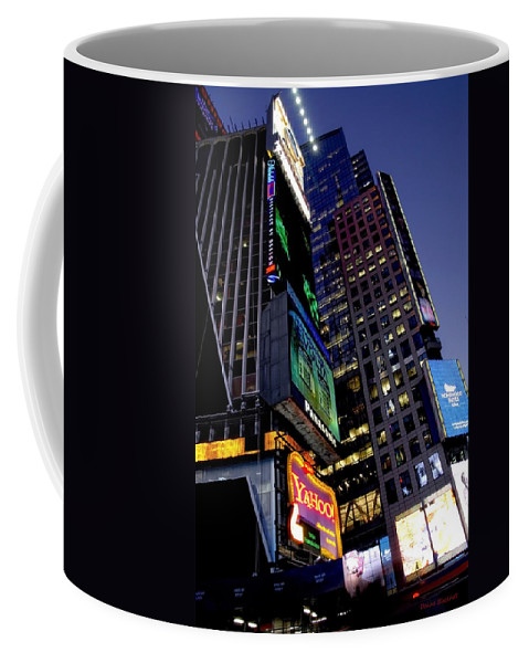 New York Coffee Mug featuring the photograph Flash by Donna Blackhall