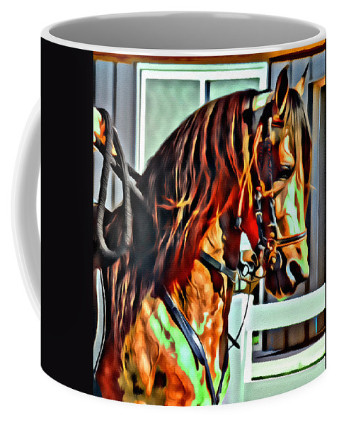 Horse Paso Fino Head Coffee Mug featuring the photograph Flashy Fino by Alice Gipson