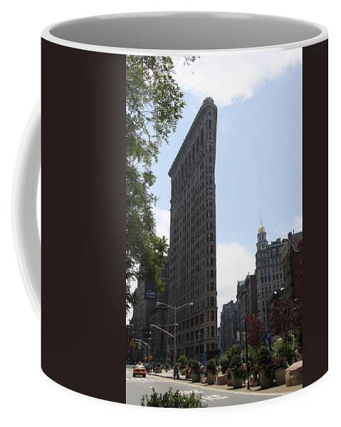 Flatiron Coffee Mug featuring the photograph Flatiron Building - Manhattan by Christiane Schulze Art And Photography
