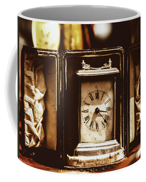 Marco Oliveira Coffee Mug featuring the photograph Flea Market Series - Clock by Marco Oliveira