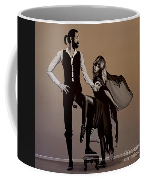 Fleetwood Mac Coffee Mug featuring the painting Fleetwood Mac Rumours by Paul Meijering