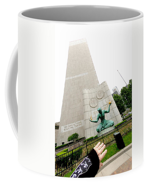 Detroit Coffee Mug featuring the photograph Flesh And Spirit Of Detroit by Steven Dunn