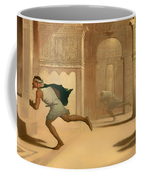Painting Coffee Mug featuring the painting Flight And Pursuit by Mountain Dreams