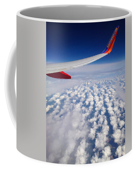 Flight Coffee Mug featuring the photograph Flight Home by Debra Martz