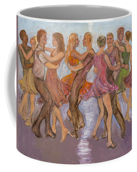 Dance Coffee Mug featuring the painting Flirtation Reel by Laura Lee Cundiff