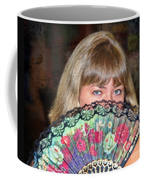 Flirty Coffee Mug featuring the photograph Flirting With The Fan by Mariola Bitner
