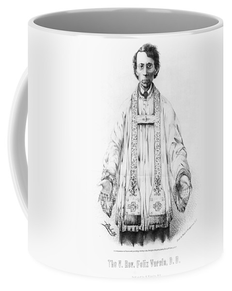 1853 Coffee Mug featuring the painting F�lix Varela Y Morales (1788-1853) by Granger