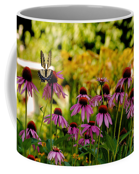 Butterfly Coffee Mug featuring the photograph Float Like A Butterfly by Lois Bryan