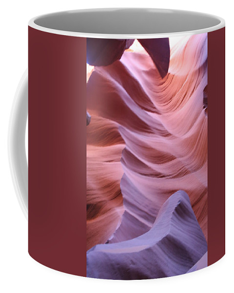 Narrow Canyon Coffee Mug featuring the photograph Floating Stone by Christiane Schulze Art And Photography