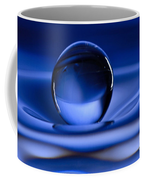 Water Drop Coffee Mug featuring the photograph Floating Water Drop by Anthony Sacco