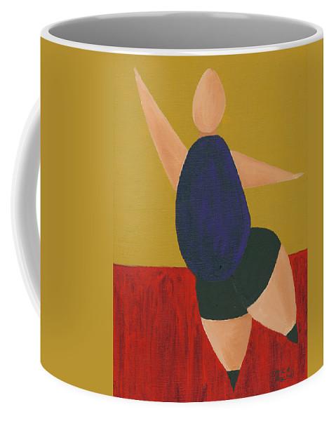 Figurative Coffee Mug featuring the painting Floor Dancer 2 by Darice Machel McGuire