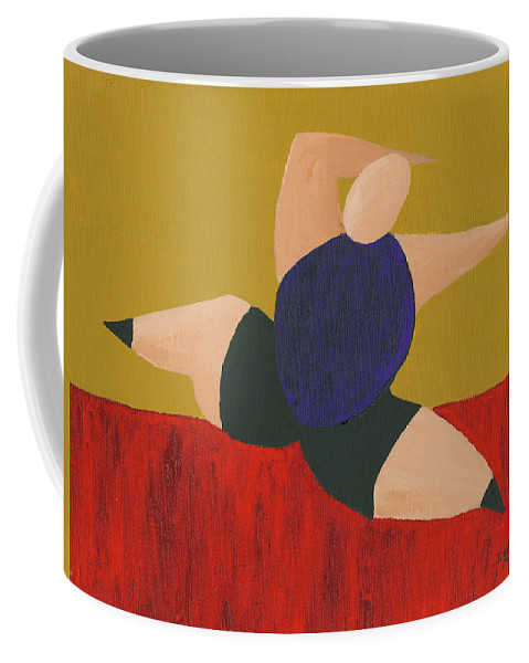 Figurative Coffee Mug featuring the painting Floor Dancer 4 by Darice Machel McGuire