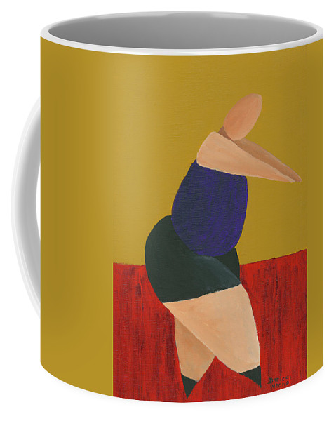 Figurative Coffee Mug featuring the painting Floor Dancer 5 by Darice Machel McGuire