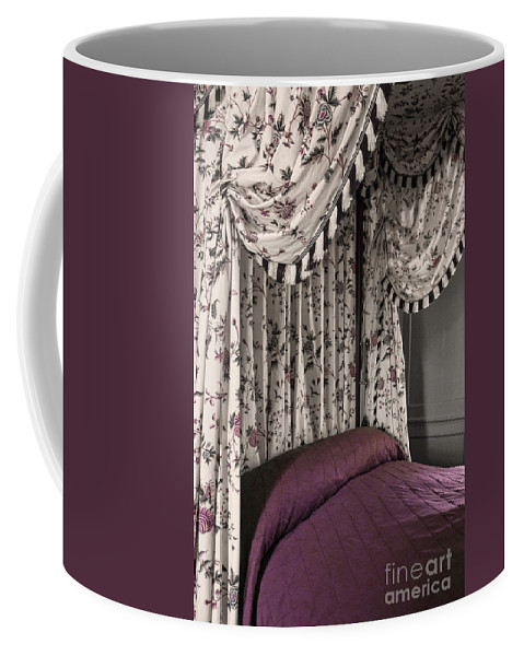 Bed Coffee Mug featuring the photograph Floral Canopy by Margie Hurwich