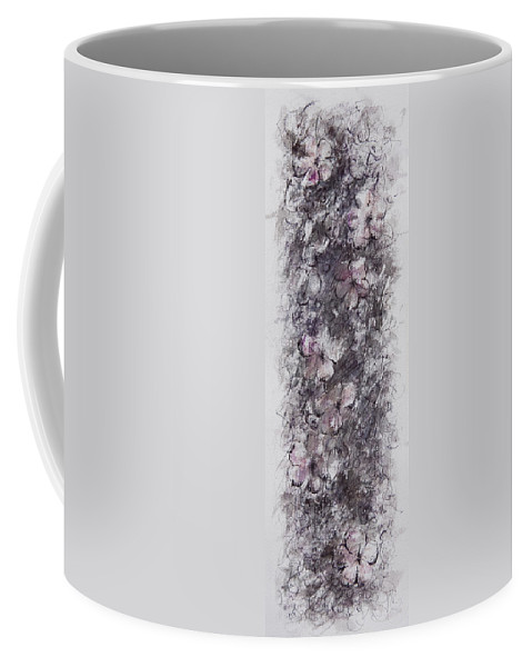 Floral Coffee Mug featuring the painting floral cascade II by William Russell Nowicki